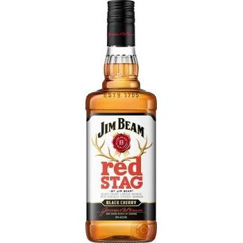 Виски Jim Beam Red Stag Black Cherry 40% 1л - купить, цены на Ашан - фото 1