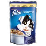 Корм Felix Fantastic З куркою у желе для дорослих котів 100г
