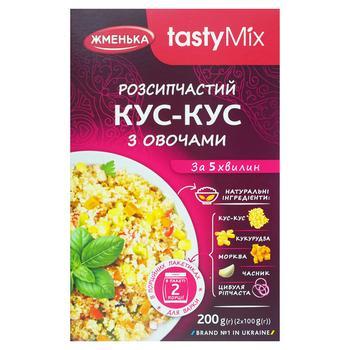 Кус-кус Жменька з овочами 200г - купити, ціни на МегаМаркет - фото 1