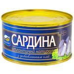 Сардина Аквамир атлантическая натуральная с добавлением масла 240г
