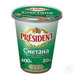 Sour cream President 20% 400g