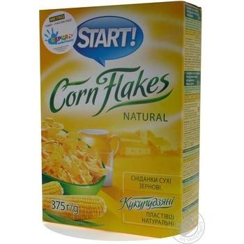 Хлопья Start кукурузные натуральные 375г