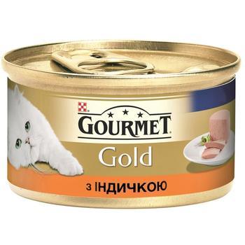 Корм Gourmet Gold паштет с индейкой для котов 85г