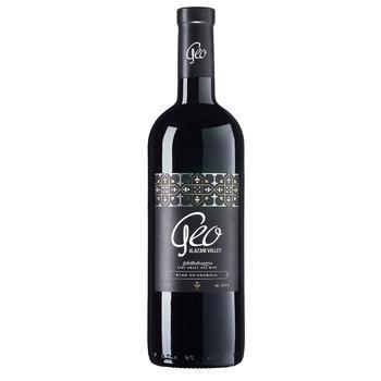 Вино Geo Alazani Valley червоне напівсолодке 13,5% 0,75л - купити, ціни на ЕКО Маркет - фото 1