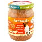 Leopold Meat Delicacy Dogs Feed With Lamb Meat 500g
