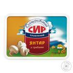 Сыр плавленый Белоцерковский янтарь с грибами 60% 180г