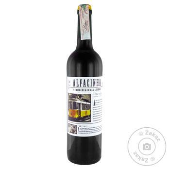 Вино Alfacinha VT IGP красное сухое 12,5% 0,75л
