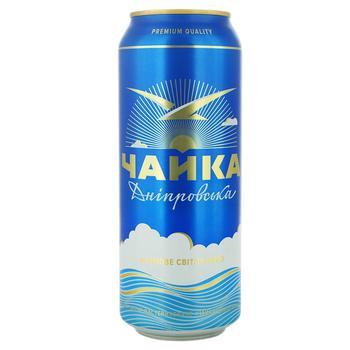 Пиво ППБ Чайка Дніпровська светлое ж/б 4.8% 0.5л