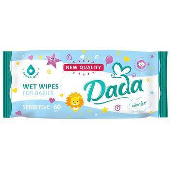 Влажные салфетки Dada для детей без запаха 60шт
