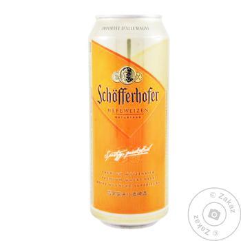 Пиво Schöfferhofer Hefeweizen пшеничное светлое нефильтрованное 5% 0,5л - купить, цены на Novus - фото 1