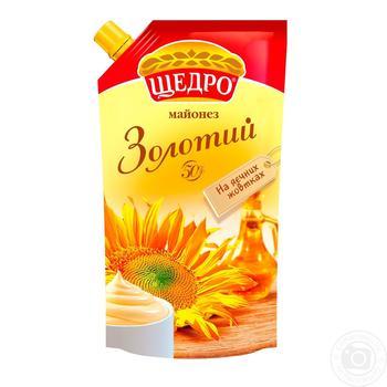 Майонез Щедро Золотой 50% 550г