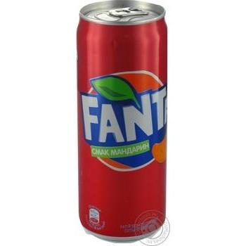 Fanta Mandarin Strongly Carbonated Beverage 330ml