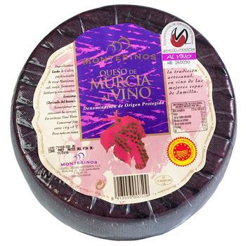 Сир Montesinos Мурсія козиний в червоному вині 55%
