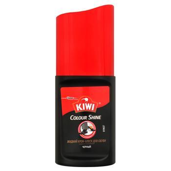 Крем блиск для взуття Kiwi Colour Shine чорний 50мл - купити, ціни на Ашан - фото 1