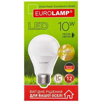 Лампа світлодіодна Eurolamp LED A60 E27 10W 3000K - купити, ціни на Метро - фото 1