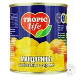 Мандарини Tropic Life дольками в сиропі 314мл