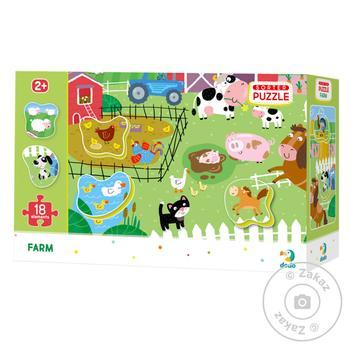 DoDo Puzzle-sorter Farm 18 elements - buy, prices for MegaMarket - image 1