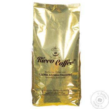 Кофе Ricco Coffee Crema Aroma в зернах 1кг