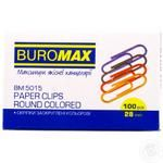 Buromax colored clip round 100 pieces 28mm