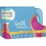 Набір подарунковий Snap Embrace Компактна бритва з 1 змінною касетою + 1 змінна касета + косметичка + гребінець Venus