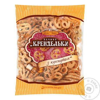 Печенье Киевхлеб Крендельки с кунжутом 260г - купить, цены на Фуршет - фото 2
