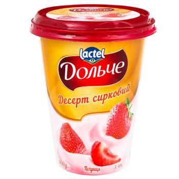 Десерт сирковий Дольче полуниця 3,4% 400г - купити, ціни на Ашан - фото 1