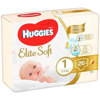 Подгузники Huggies Elite Soft 1 3-5кг 25шт