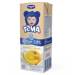 Йогурт детский Тема абрикос-банан с 8 месяцев 2.8% 207г тетрапакет Украина