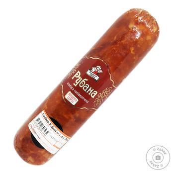 Колбаса Петровские колбасы Рубана полукопченая высший сорт весовая - купить, цены на Фуршет - фото 1