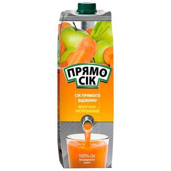 Сок Прямосок яблочно-морковный 1л