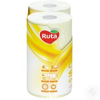 Toilet paper Ruta Aroma Peach yellow 2-ply 4pcs - buy, prices for Novus - image 2