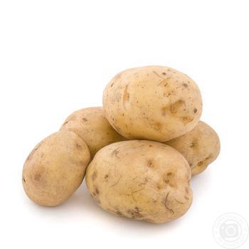 Vegetables potato washed