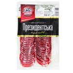 Колбаса Алан Президентская сыровяленая нарезка в/с 80г