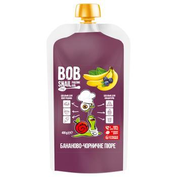 Пюре фруктове Snail Bob Банан-Чорниця 400г - купити, ціни на Novus - фото 1