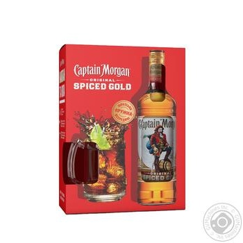 Captain Morgan Spiced Gold Set Rum 35% 0,7l + cup - buy, prices for Novus - image 1