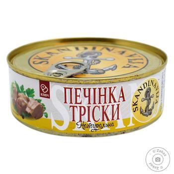 Печень трески Скандинавия ключ №3 235г - купить, цены на Фуршет - фото 1