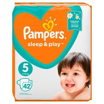 Подгузники Pampers Slee&Play 5 Junior 11-16кг 42шт