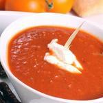 Мясной суп-пюре с яблоками и помидорами