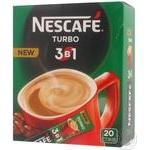 Кофейный напиток Нескафе 3в1 Турбо растворимый 16г