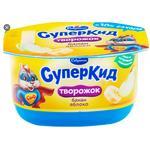 Паста творожная Савушкин СуперКид Банан-Яблоко 3,5% 110г