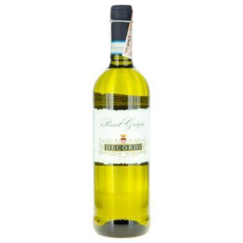 Вино Decordi Пино Гриджио Делле белое сухое 0.75л - купить, цены на Фуршет - фото 1