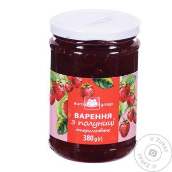 Eurogroup Strawberry Jam 380g - buy, prices for Tavria V - image 1