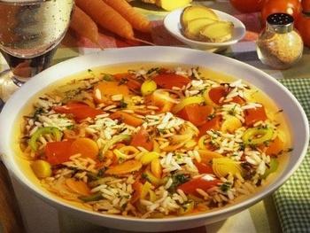 Рисово-овощной суп