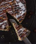 Виноградный пирог с ванильной глазурью