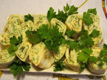 Лаваш із зеленню до шашлику