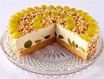 Сирно-фруктовий літній торт без випікання
