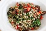 Ароматный рис с овощами и грибами