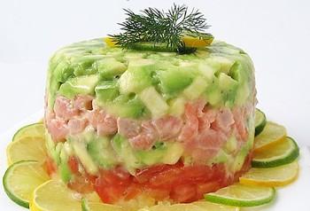 Салат з креветками та авокадо