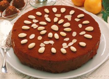 Шоколадно-мигдалевий пиріг
