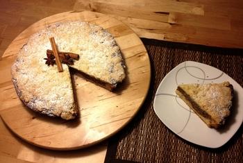 Пирог с ореховой начинкой